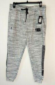 NBA Sweatpants Size Large Heather Gray Net Dry Jogger Elastic Waistband New