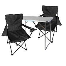 3 Pièces Camping Meubles Set alu avec poignée Camping l70xb50xh59cm