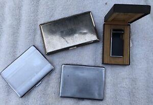 Cigarette Cases & Vintage Calibra Lighter