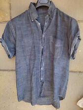 "100% lino linen  leinen AUTHENTIC shirt GUYA TG L(XL-54-52)""rule dsquared plein"""