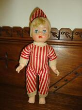 Vintage Estate Baby Boy Doll in Pjs Open Close Eyes Made Hong Kong 10 inch