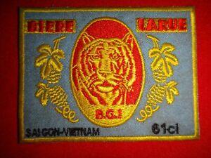 BIERE LARUE TIGER SAIGON Beer Factory Circa 1960s Vietnam War Novelty Patch
