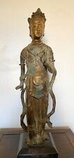 Standing Chinese Gilt Bronze Guanyin Avalokitesvara
