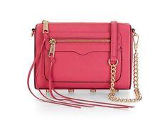 NWT 100% Authentic Rebecca Minkoff Avery Crossbody Bag (Bright Fuchsia Pink)