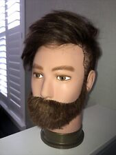 Male Men Mannequin Head With hair by Hairart, fits on tripod Liam beard