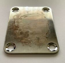 Relic / road worn neck plate for Fender Strat Or Tele - Chrome - in stock UK #6