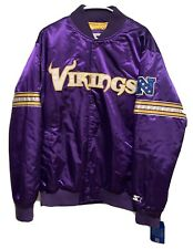 New Starter NFL Minnesota Vikings Satin Purple Jacket Men's Size XL Large NWT