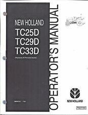 New Holland TC25D, TC29D, TC33D Tractor Operator's Manual 86587311