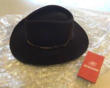 Vintage The Gun Club By STETSON,  Brown 4X XXXX Cowboy Hat Size 7 1/8″ R