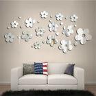 Usa 3d Mirror Flower Sticker Art Design Decal Wall Decals Home Decor Removable