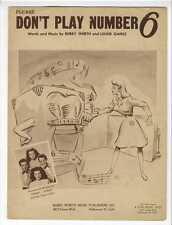 JUKE BOX Sheet Music 1947 Please Don't Play Number 6