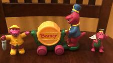 3 Vintage Lyons Group Barney PVC Figures Lot