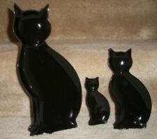New listing Black cats ceramic plate / dish, set of 3, various sizes Nib