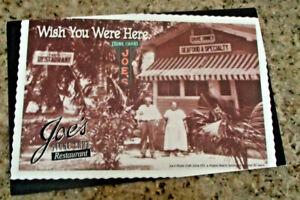 "JOES STONE CRAB RESTAURANT Unused Postcard 5.5x8.5"" 1970s Image From 1913 Nice!"