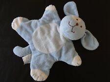 Security Blankets & Beyond Blue White Puppy Dog Spot Eye Baby Lovey Toy Doll