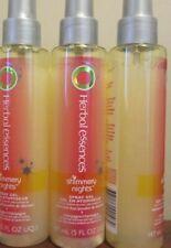 Lot of 3 clairol Herbal Essences Shimmery Nights Spray Gel 5 oz *w pieces floati