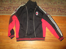 AC MILAN FC Sewn Logos Zip Up Track Jacket Large By World Soccer ITALY Serie A