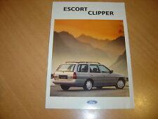 DEPLIANT Ford Escort CLipper de 1993