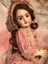 ANTIQUE RARE FRENCH Jullien TÊTE EN BISCUIT PARFAIT French doll 55 cm