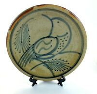CAMBRIDGE Wood Fired STUDIO POTTERY Hand Crafted MARK SKUDLAREK Plate TREE BIRD