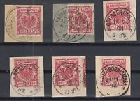 X2266/ GERMANY REICH – MI # 47 (x6) USED WITH SAXONY CANCELS