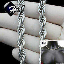 """17""""MEN's Stainless Steel 8mm Silver Smooth Rope Chain Choker Necklace*N149"""
