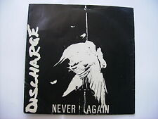 """DISCHARGE - NEVER AGAIN - 7"""" VINYL EXCELLENT CONDITION 1981 - CLAY6"""