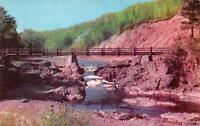 MELLEN, WI  Wisconsin    RUSTIC BRIDGE-BAD RIVER, Copper Falls Park    Postcard