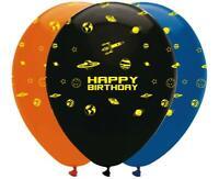 "Space Blast Happy Birthday 12"" Latex Balloons x 6"