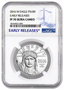 2016 W 1 oz Platinum American Eagle Proof $100 NGC PF70 UC ER