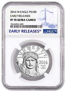 2016 W 1 oz Platinum American Eagle Proof $100 NGC PF70 UC ER