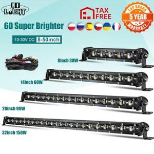 CO LIGHT Super Bright LED Light Bar 6D 8-50inch Offroad Combo Led Bar for Lada