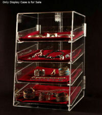 4 Tier Acrylic Jewelry Display Case Withremovable Trays 12w X 14d X 19h