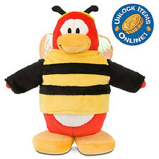 "Disney Club Penguin Plush BUMBLE BEE 9"" Code Coin NWT W3"