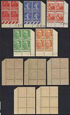 5 BLOCS DE 4 COIN DATE ** 1931-1948 COTE + 65.00 EUROS (ref 3883)
