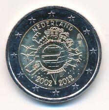10 unidades Países Bajos 2 € conmemorativa 2012 10 años euro-dinero en efectivo unz. - banco frescos