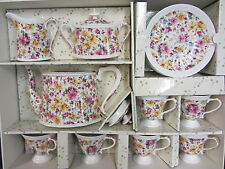 LORD NELSON WARE CHINTZ 15 PIECE TEA SET CHARLOTTE DESIGN