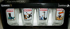 Guinness Beer Bar Glasses Drink collector pub Drinking glass xmas gift rare new