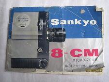 Instructions cine movie camera SANYKO 8-CM micro zoom CD/email