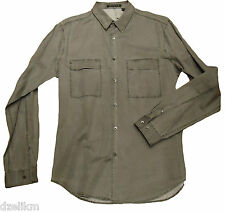 NWT $235 THEORY LONG SLEEVE 2 FRONT PATCH POCKETS BUTTON-DOWN SHIRT Size L