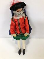 Rare Peggy Nisbet Dolls KING CHARLES  Red Green Outfit Blue Cape
