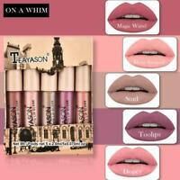 5pcs TEAYASON Liquid Lipstick Set Lipgloss Makeup Matte Gloss Waterproof Ve E9J0