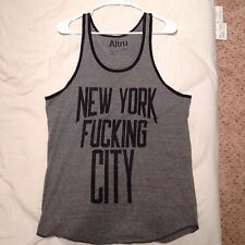 Altru Grey Tank Top NEW YORK F***ING CITY Size M