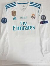 Real Madrid 17/18 ucl final 2018 home jersey Ronaldo Bale shirt long sleeve
