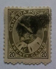 CANADA-1903-12  20c Pale olive green Sg 185? Fine used as picture