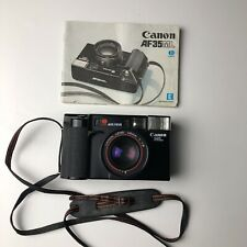 Canon Af35Ml 35mm Point & Shoot Film Camera Cap Strap From Japan Tested