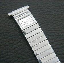 Men's Stainless Steel Adjustable 16mm to 21mm Flex Retro Calendar Watch Band