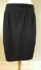 NEXT Woman black and red floral overlay straight pencil skirt Size UK 16