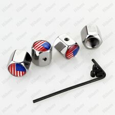 Styling Auto Parts USA Flag Emblem Anti-theft Wheel Tyre Stem Tire Air Valve Cap
