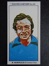 The Sun Soccercards 1978-79 - Robert (Bobby) McDonald - Coventry City #456
